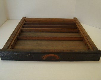 Vintage Wooden Type Tray