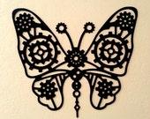 Steampunk Butterfly Metal Wall Art