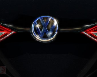VW Classic Grill Ornament on Dye Infused Aluminum - Fine Art Photography Print Picture