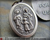 Holy Family Charm,  Holy Family Necklace, Holy Family Pendant, Made in ITALY, Catholic Jewelry Holy Spirit First Communion Baptism. Gift.