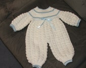 Crochet Baby Boy Romper