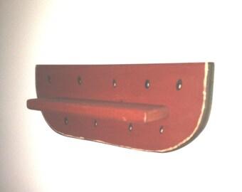 Vintage Wooden Watermelon Shelf - Primative / Rustic / Country Decor - [F]