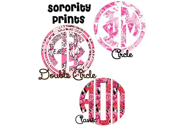 Greek letter sorority lilly pulitzer print by moorecoolers for Lilly pulitzer sorority letters