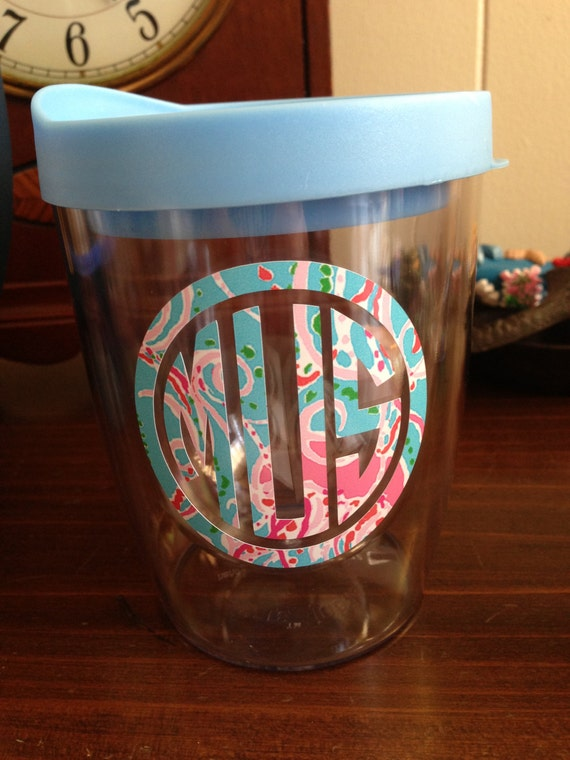 11oz stemless wine glass dressed in lilly pulitzer by moorecoolers - Insulated stemless wine glasses ...