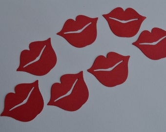 Lips die cuts confetti- kissing lips-wedding decoration-party decoration-lips punch out