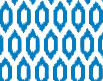 Blue Ikat Patterned Gift Wrap