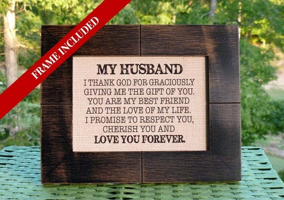 Wedding gift from bride to groom husband valentines like this item negle Images