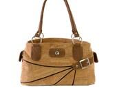 Women Shoulder Bag Made from Cork - Handmade Vegan Gift for Christmas - Buy Cork Pocketbooks (CK052)
