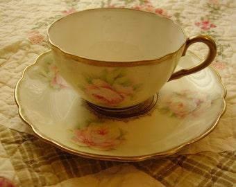 Vintage  Porcelain Teacup & Saucer Set/Bavaria