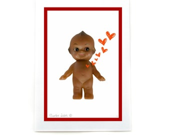Baby Be My Valentine: Kewpie Card