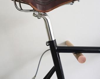 wooden bike hook // OAK WOOD // COPPER