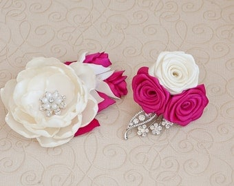 Bridal Hair Fascinator Clip. Made upon request