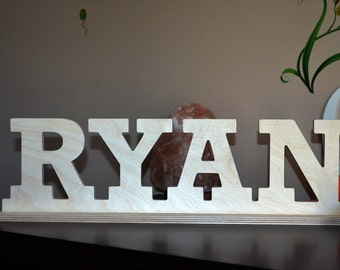 wooden name sign wood word sign custom word sign free standing letter sign wall letter sign wooden letter for nursery