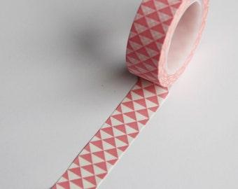 PINK Triangle Diamond Washi Tape 15mm single roll -project life-