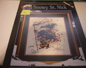 Peggy Abrams - Snowy St. Nick - Dimensions Cross Stitch Pattern