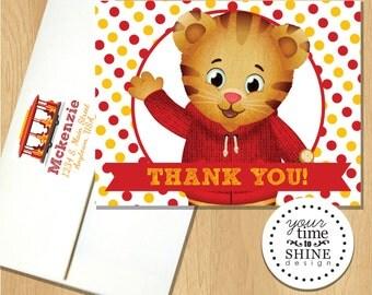 Daniel Tiger - Thank You Folded Notecard - Blank Inside