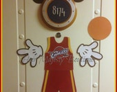 Mickey Mouse Basketball Player Body Part Magnet for Cruise Door