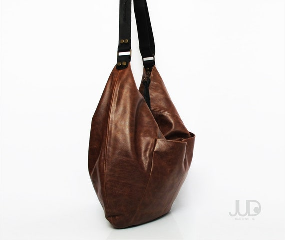 Black leather bag leather purse SALE hobo leather bag