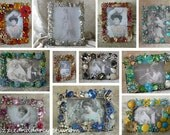 Custom Order Vintage Jewelry Rhinestone Picture Photo Frame