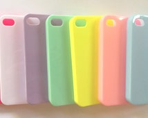 Sweet Deco Den Kawaii Diy mobile iphone 4/4s pastel colors shiny hard plastic cases Cute Decoration Fashion Style Bling Mobile Phone Cover