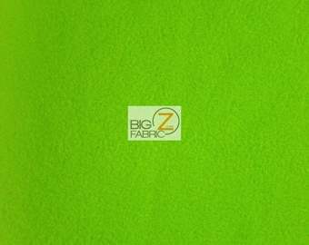 """Solid Polar Fleece Fabric - LIME GREEN - Sold By The Yard 60"""" Width"""