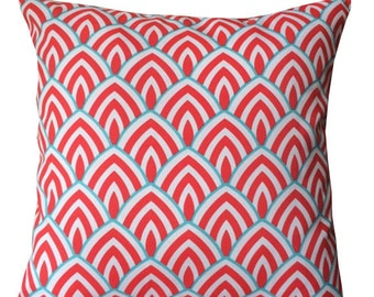 "Red Outdoor Pillows .  16 "" covers Decorator Pillow Cover.Home Decor.Cushions. Euro Pillows.Pillow.Accent Pillow Lumbar."