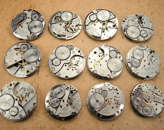 Small watch movements - set of 12 - c65