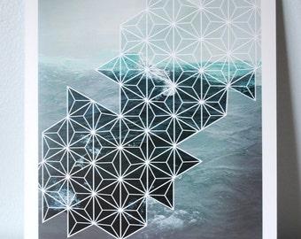 Geometric Ocean Print