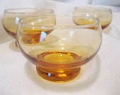 Vintage Tiny Amber Glass Cups For All Occasions