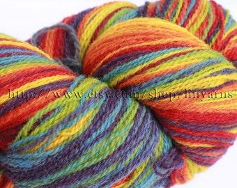 KAUNI Estonian Artistic Yarn Rainbow 8/2, Yarn for Knitting, Crochet