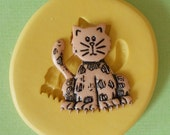 Cat Mold - Flexible Silicone Mold - Claws - Resin - Polymer clay - FOOD Safe - Fondant - Chocolate - Candy - Sugar  C189M