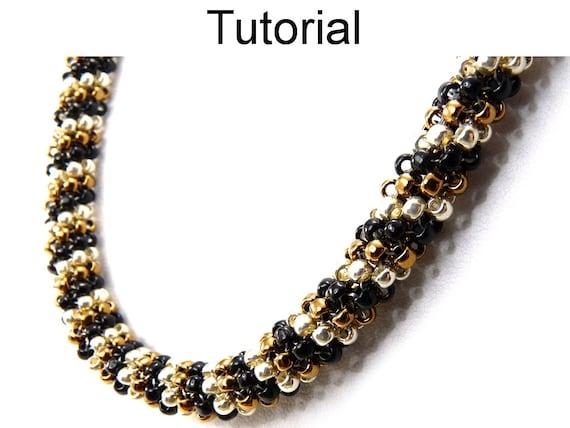 Beadweaving tutorials easy beginner beading patterns seed for Simple beaded jewelry patterns