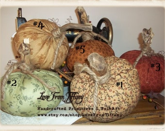 Primitive Fabric Pumpkins
