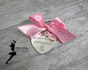 Pink Awareness Keychain | Breast Cancer Keychain | Pink Keychain | Awareness Keychain | Awareness Accessory
