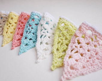 Crochet Pastel Lace Bunting