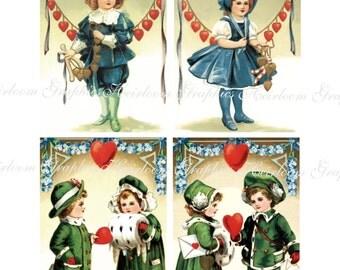 Valentine Download Vintage Valentine Postcard Download