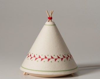 TIPI / Child Table lamp red