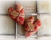 Primitive Valentine Heart..... Click Your Heels...