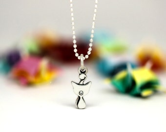 Little Cat charm, sterling silver, kid jewelry (Chain Sold Separately)