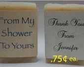 Bridal Shower Favor - Shower Favors - Soap Party Favors - Wedding Favors -  1 oz. handmade soap favors.