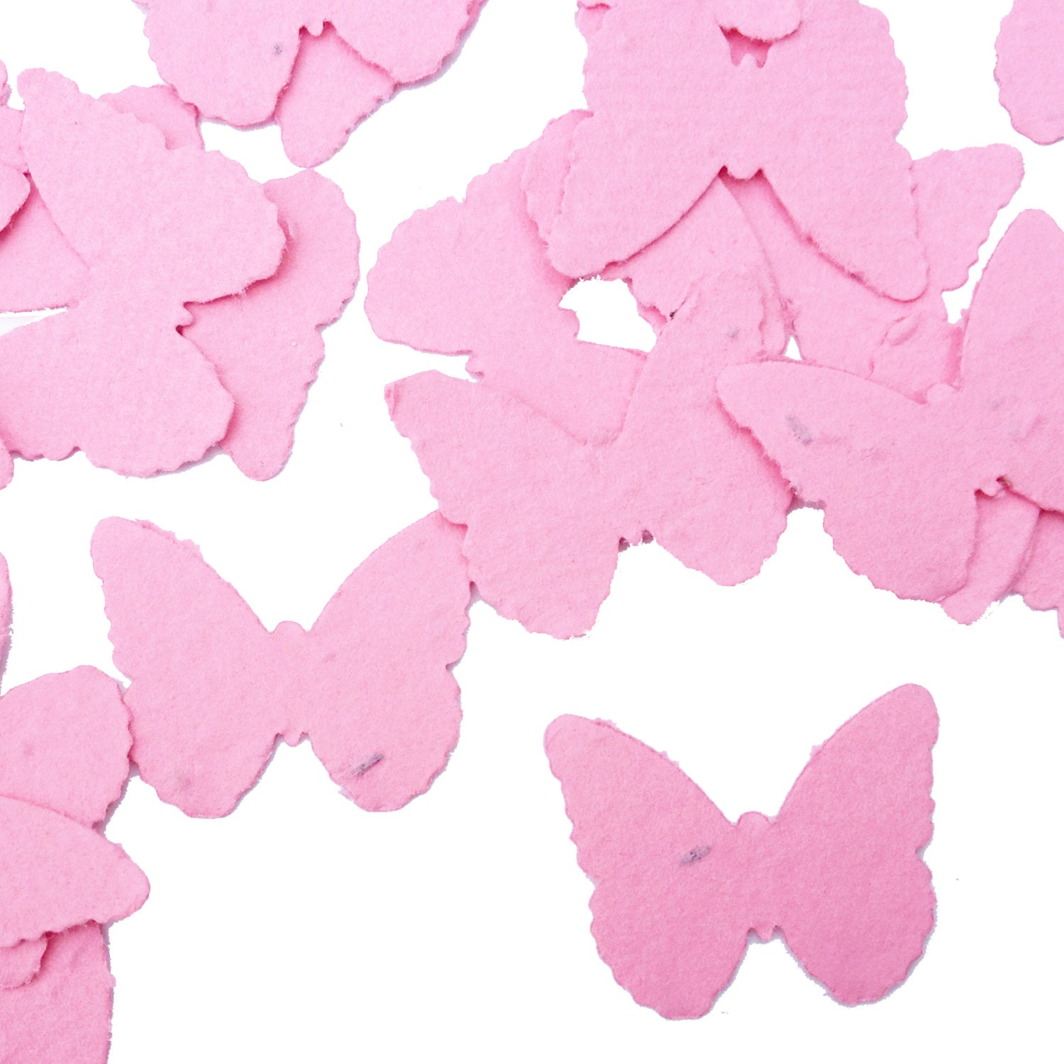 Hot Pink Butterfly Shaped Plantable Seed Paper Confetti