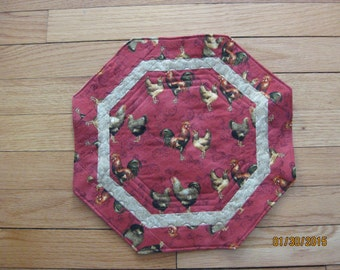 Rooster Octagonal Table Topper
