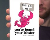 Lobster Engagement Card / Anniversary Card /  Naughty / Valentines Card – You've Found Your  Lobster. Funny greetings card