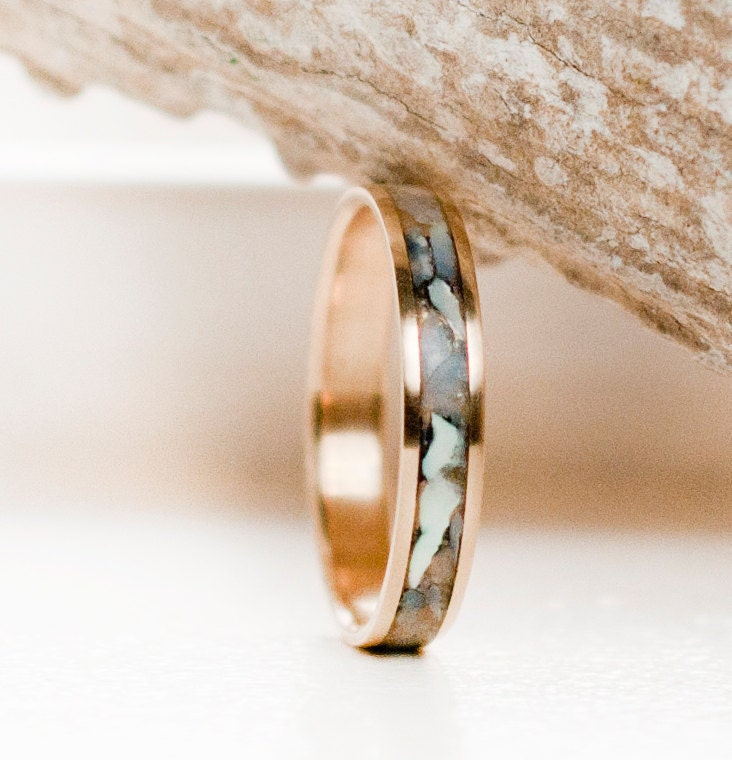 Pearl Wedding Rings: Womens Wedding Band Mother Of Pearl & 10K Gold By