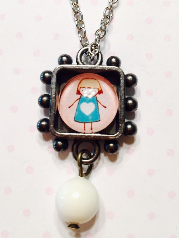 little girl necklace jewelry for little girl by allshecraves. Black Bedroom Furniture Sets. Home Design Ideas