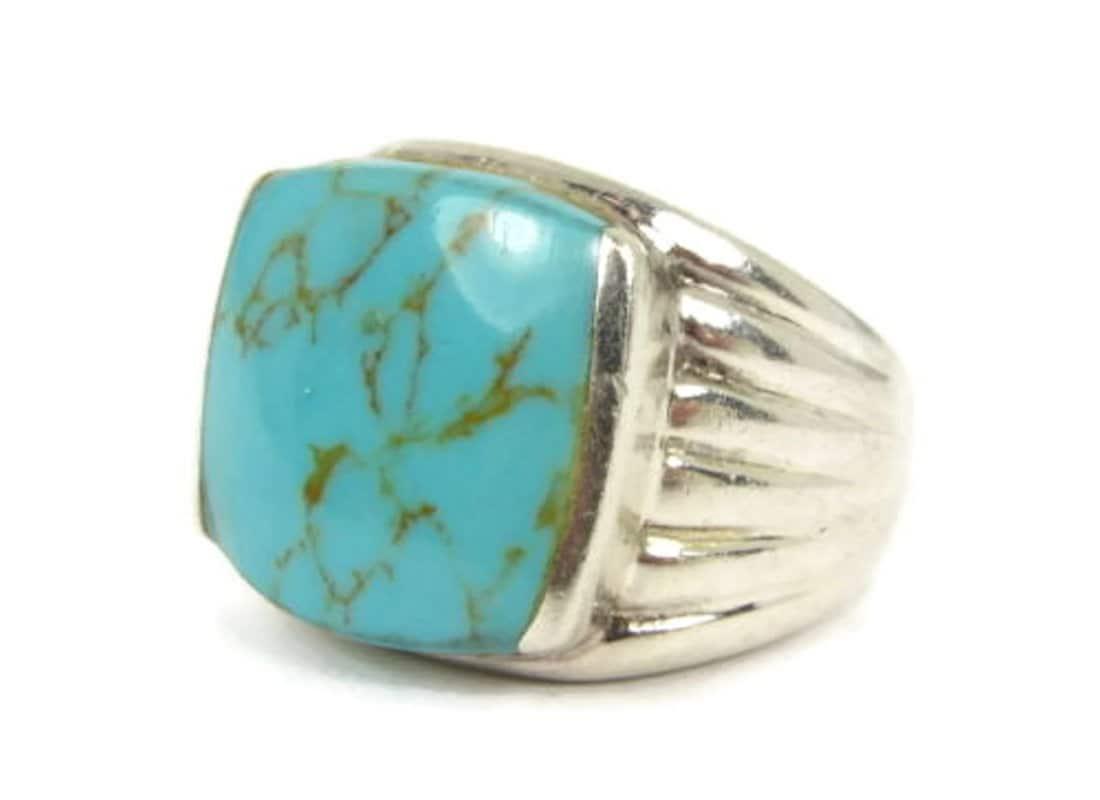 Sale Men S Turquoise Ring Men S Retro By Colorsofthesouthwest