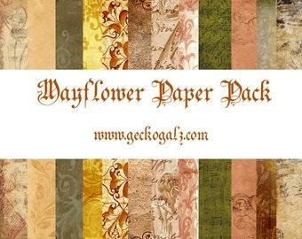 Mayflower Digital Paper Pack