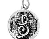 3 pcs. Letter S Charm. Letter S Pendants. Silver Letter S Monogram Charm. Script letter S charm.  Alex and Ani Inspired charm. K85298T