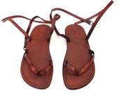 SALE ! New Leather Sandals CLARA Women's Shoes Thongs Flip Flops Flat Slides Slippers Biblical Bridal Wedding Colored Footwear Designer