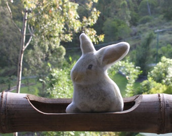 Stuffed bunny rabbit toy . Really cute and cuddly, perfect gift for newborn baby , kids  and adults  .